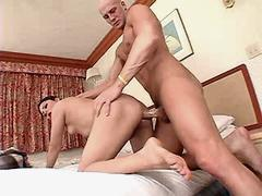 Hot tranny sucks n gets cock in ass