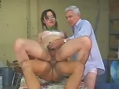 Ebony shemale rubbing long pecker